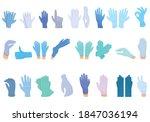 medical gloves icons set.... | Shutterstock .eps vector #1847036194