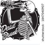 Human Skeleton Drinking A...