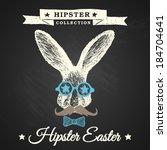 hipster easter   easter poster... | Shutterstock .eps vector #184704641