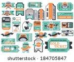 vector set  tickets in...   Shutterstock .eps vector #184705847