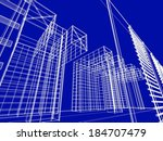 abstract architecture background | Shutterstock . vector #184707479