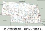 high detailed nebraska road map ... | Shutterstock .eps vector #1847078551