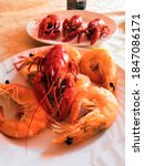 Boiled Crayfish And Shrimp....