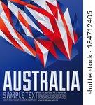 australia   vector geometric... | Shutterstock .eps vector #184712405