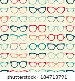 seamless sunglasses pattern | Shutterstock .eps vector #184713791