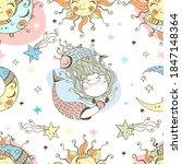 a fun seamless pattern for kids.... | Shutterstock .eps vector #1847148364