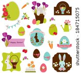 easter icons  labels  stickers...