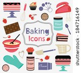 colorful collection of baking... | Shutterstock .eps vector #184716149