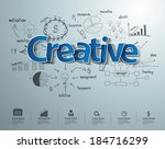 creative text with drawing... | Shutterstock .eps vector #184716299
