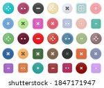 clothing buttons vector design... | Shutterstock .eps vector #1847171947