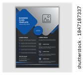 business flyer template design... | Shutterstock . vector #1847187337