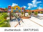 mexican  caribbean hacienda ... | Shutterstock . vector #184719161