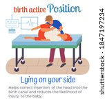 birth active position lying on... | Shutterstock .eps vector #1847197234
