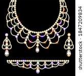 illustration of jewelry set...   Shutterstock .eps vector #1847209834