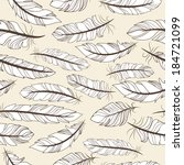 vintage seamless pattern with... | Shutterstock . vector #184721099
