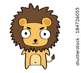 funny cute smile lion. cartoon... | Shutterstock .eps vector #184726055
