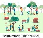 people harvesting  picking... | Shutterstock .eps vector #1847261821