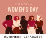 international women's day. five ... | Shutterstock .eps vector #1847263594