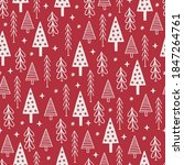 christmas seamless pattern with ... | Shutterstock .eps vector #1847264761