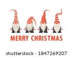 merry christmas postcard. four... | Shutterstock .eps vector #1847269207