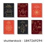 merry christmas minimalist... | Shutterstock .eps vector #1847269294