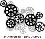 cogwheel gear mechanism. black... | Shutterstock .eps vector #1847292991