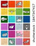 funny bulls calendar design.... | Shutterstock .eps vector #1847347417