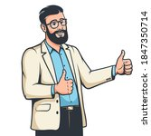bearded businessman in glasses... | Shutterstock .eps vector #1847350714