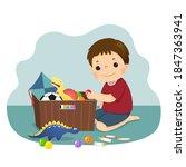 vector illustration cartoon of... | Shutterstock .eps vector #1847363941