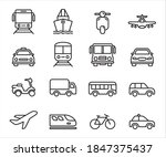 simple set of mass... | Shutterstock .eps vector #1847375437