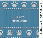christmas and new year knitted...   Shutterstock .eps vector #1847383594