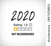 2020 not recommended typography ...   Shutterstock .eps vector #1847428801
