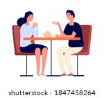 couple on dating. man woman...   Shutterstock .eps vector #1847458264