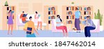 people in library. person read  ...   Shutterstock .eps vector #1847462014
