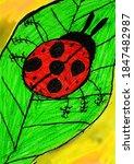 Ladybug On A Green Leaf....