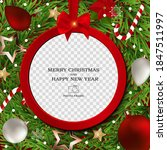 merry christmas and happy new... | Shutterstock .eps vector #1847511997