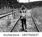 Black And White Photo Of A Girl ...
