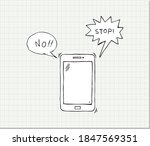 hand drawn smartphone with word ...   Shutterstock .eps vector #1847569351