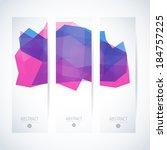 vertical banner vector set  | Shutterstock .eps vector #184757225