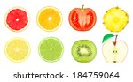 juicy slices of fruit on a... | Shutterstock . vector #184759064