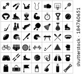 set icons of sports and fitness ... | Shutterstock .eps vector #184760651