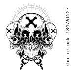 skull illustration  | Shutterstock .eps vector #184761527