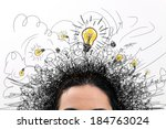 thinking people with question... | Shutterstock . vector #184763024