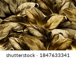 gold tropical leaves patterned... | Shutterstock . vector #1847633341