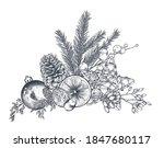 vector christmas floral... | Shutterstock .eps vector #1847680117