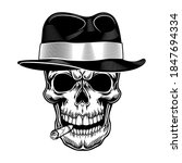 gangster skull vector... | Shutterstock .eps vector #1847694334