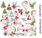 elements for christmas design | Shutterstock .eps vector #18476992