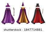 Magician Clothes Realistic Set...