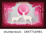 christmas card paper art... | Shutterstock .eps vector #1847716981