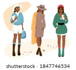 set of fashion girls on a white ... | Shutterstock .eps vector #1847746534